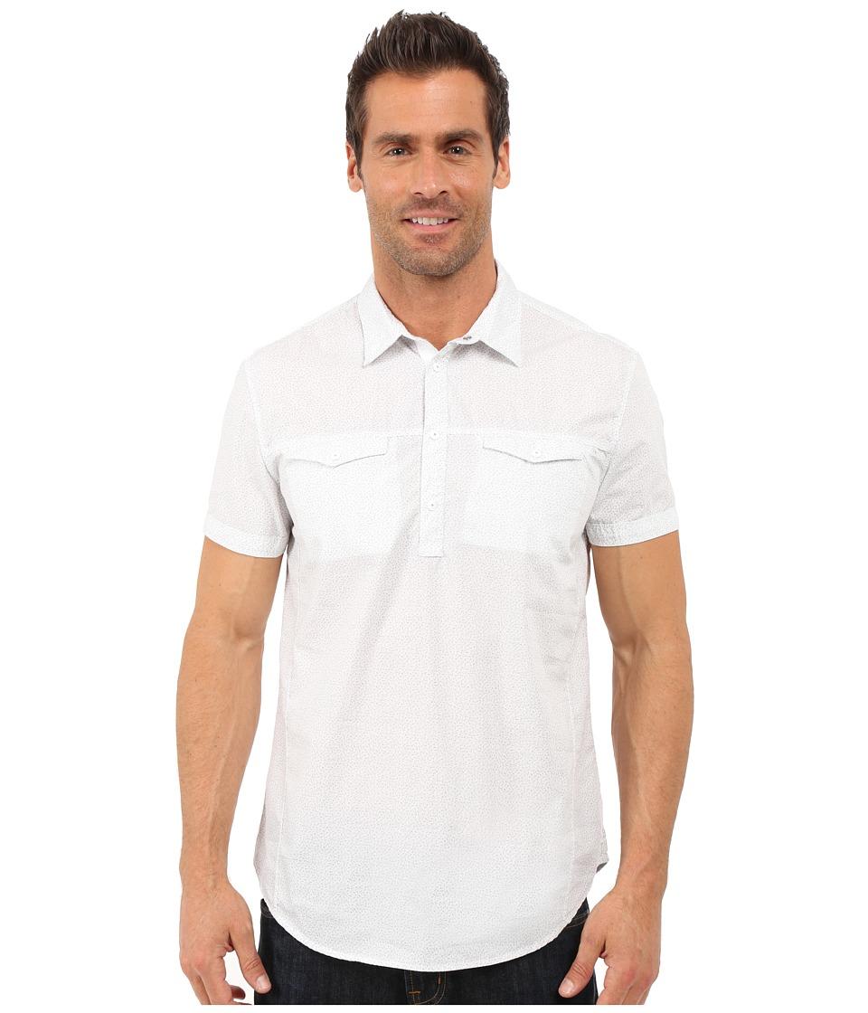 Calvin Klein Jeans - Pinball Print Popover (White) Men's Clothing
