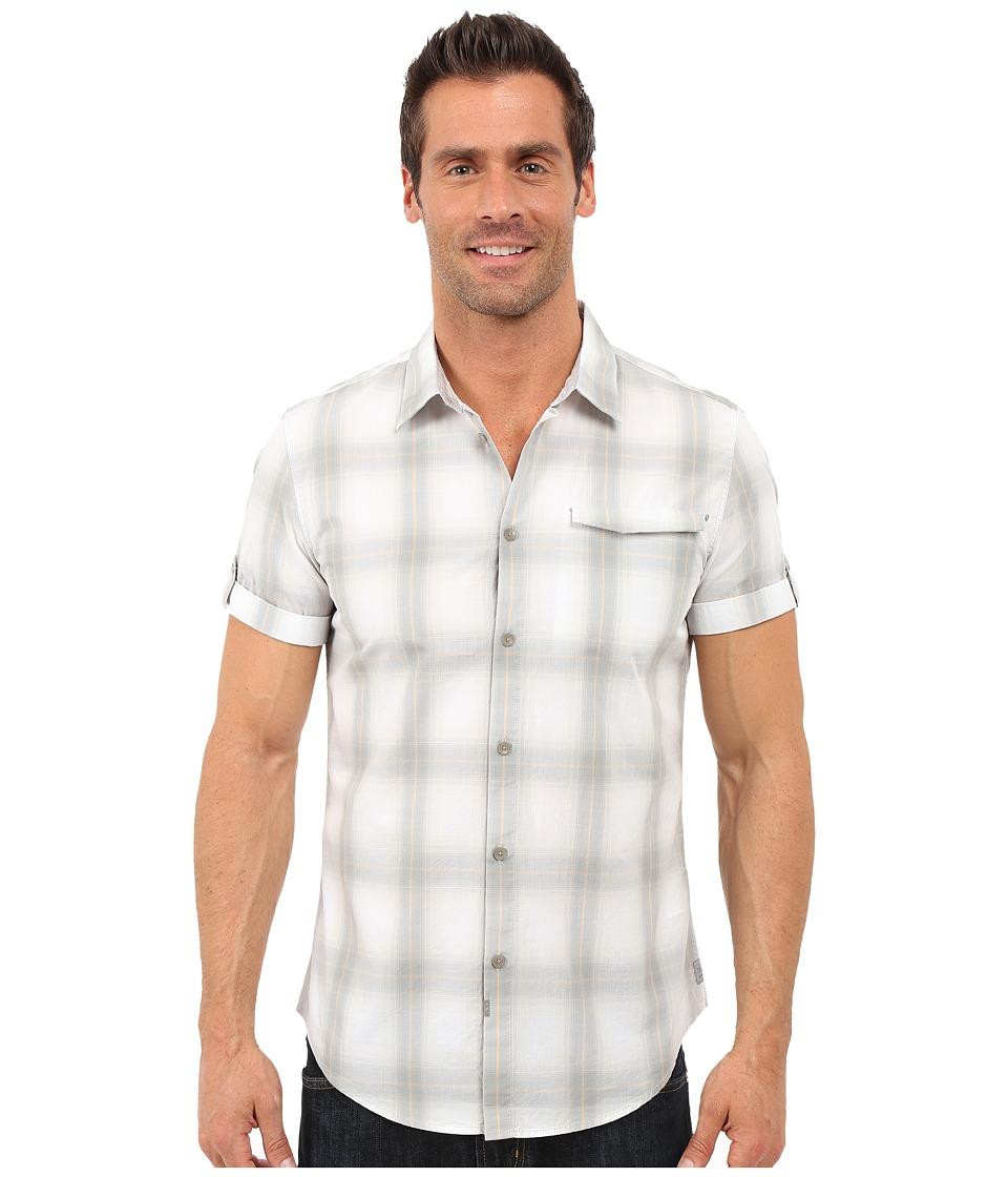 Calvin Klein Jeans - Short-Sleeve Ombre Plaid Shirt (Glacier Grey) Men's Clothing