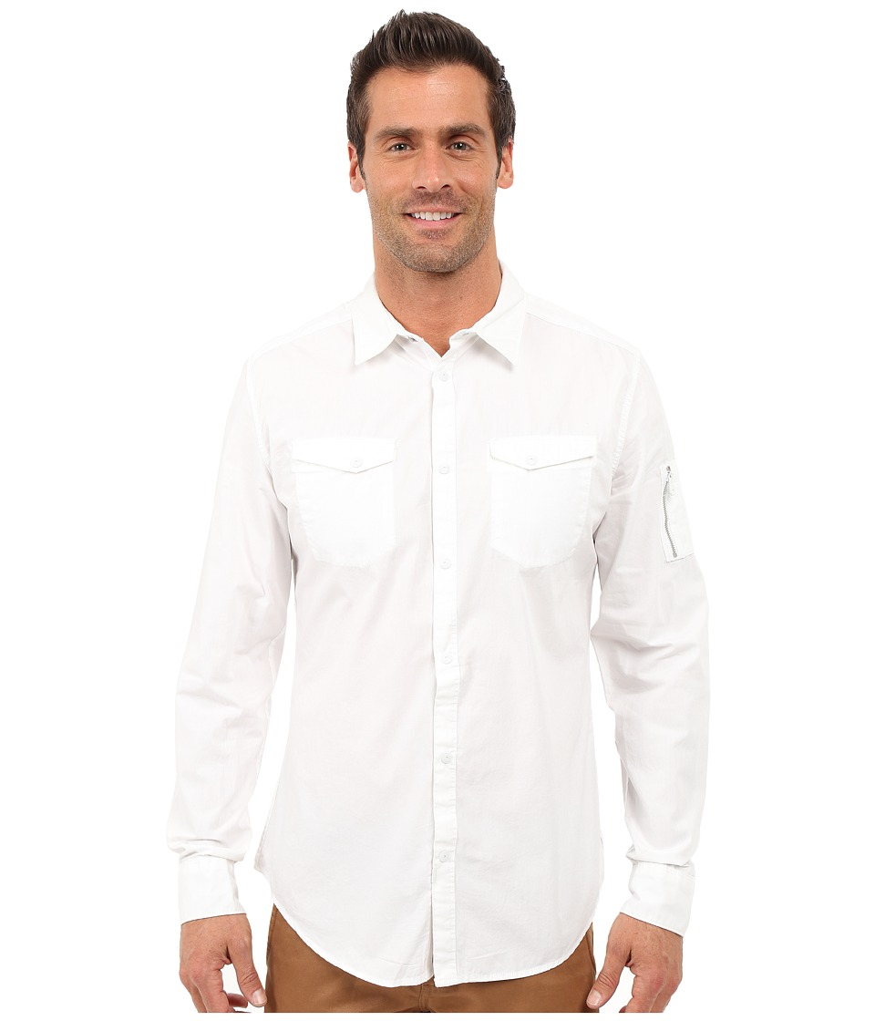 Calvin Klein Jeans - Garment Dyed Aviator Shirt (White) Men's Clothing