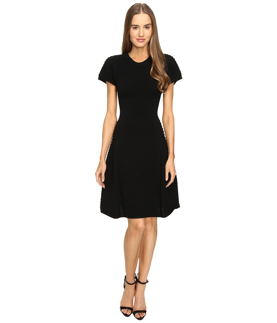 DSQUARED2 - Short Sleeve A Line Dress (Black) Women's Dress