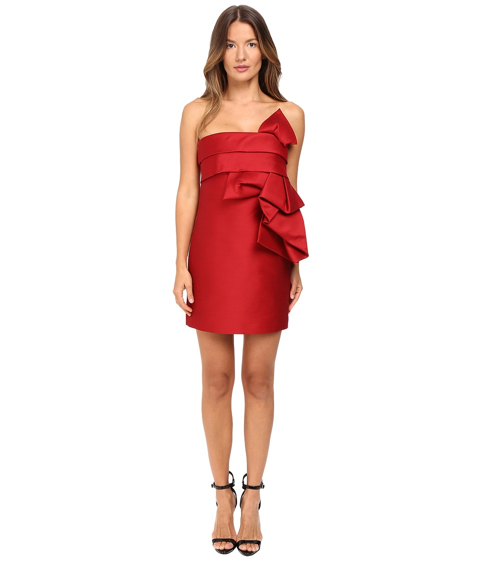 DSQUARED2 - Wool Silk Mini Sculpture Dress (Red) Women's Dress