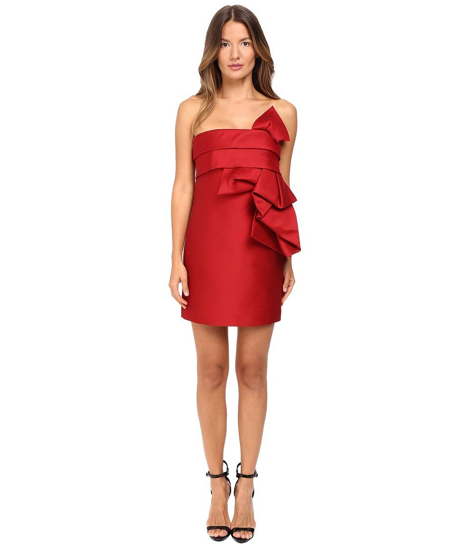DSQUARED2 - Wool Silk Mini Sculpture Dress (Red) Women's Dress
