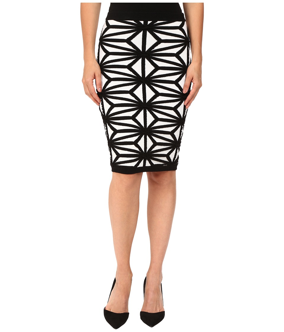 DSQUARED2 - Geo Knit Skirt (Off-White/Black) Women's Skirt