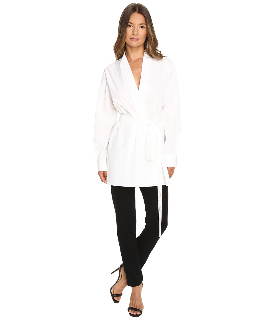 DSQUARED2 - Chic Poplin Karate Shirt (White) Women's Clothing