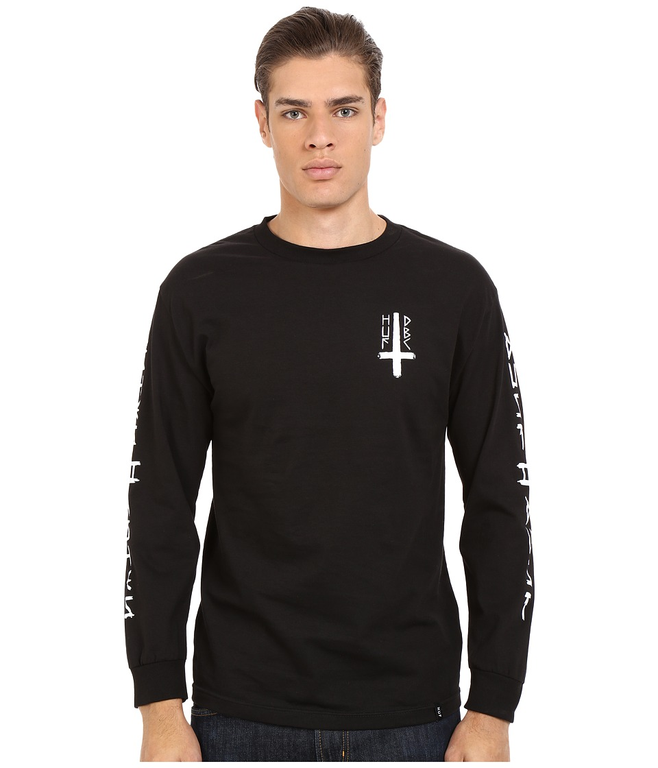 HUF - Ashes To Ashes Long Sleeve Tee (Black) Men's T Shirt