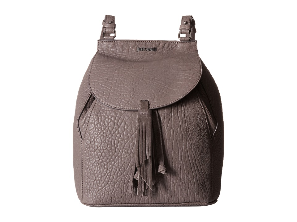 Just Cavalli - Solid Pebbled Calf Skin Backpack (Litium) Backpack Bags