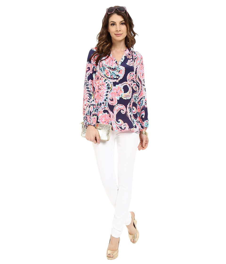 Lilly Pulitzer - Elsa Top (Bright Navy Pop Up For The) Women's Blouse