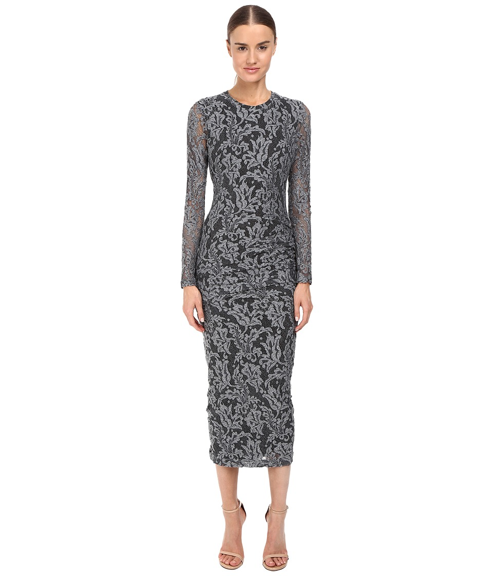 Just Cavalli - Lace Overlay Midi Dress (Silver) Women's Dress