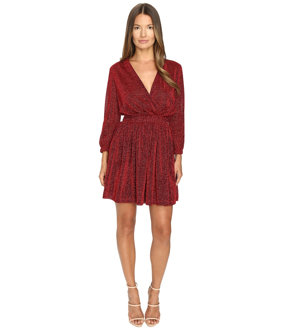 Just Cavalli - Lurex Solid Crossover Dress (Corallo Red) Women's Dress