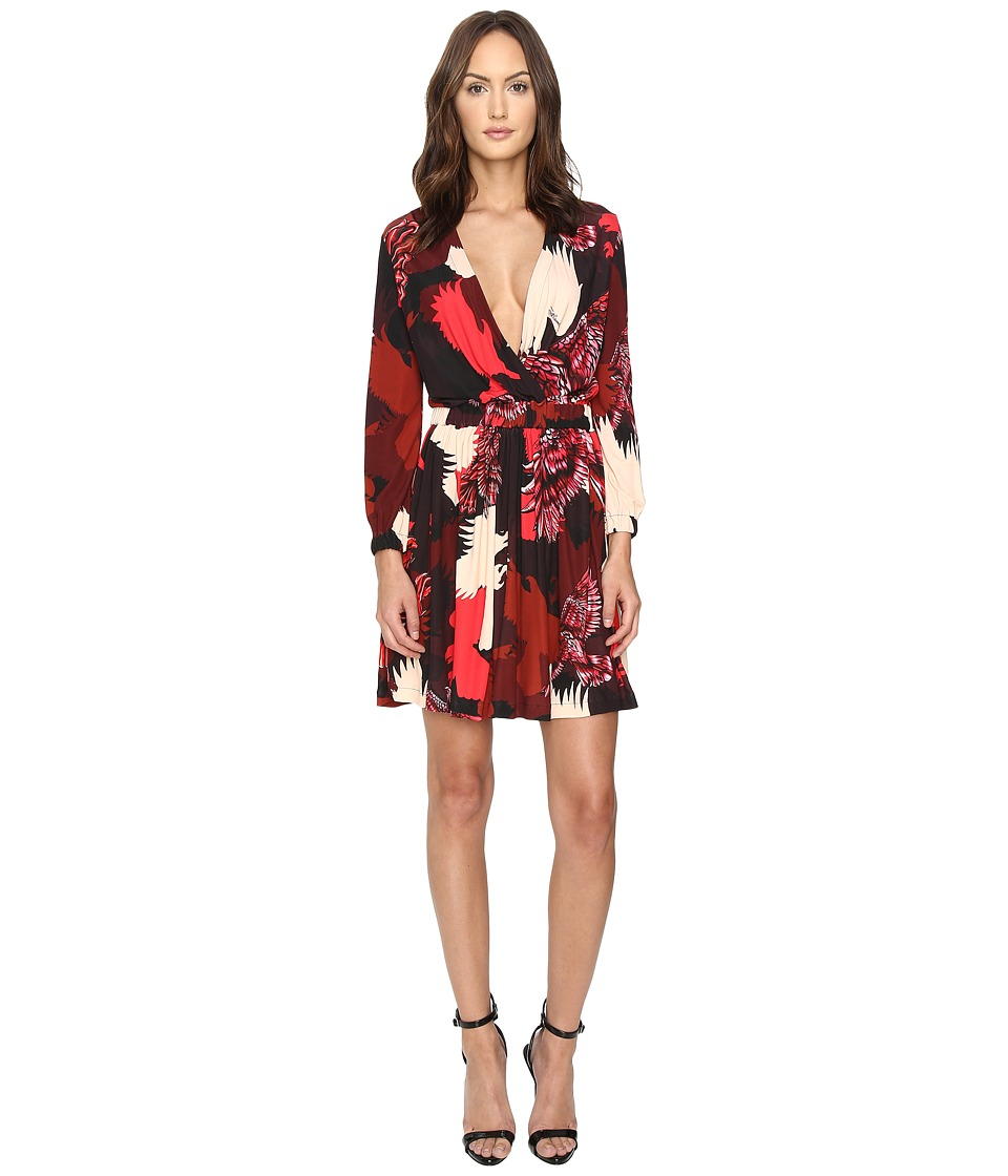 Just Cavalli Eagle Camo Print Crossover Dress