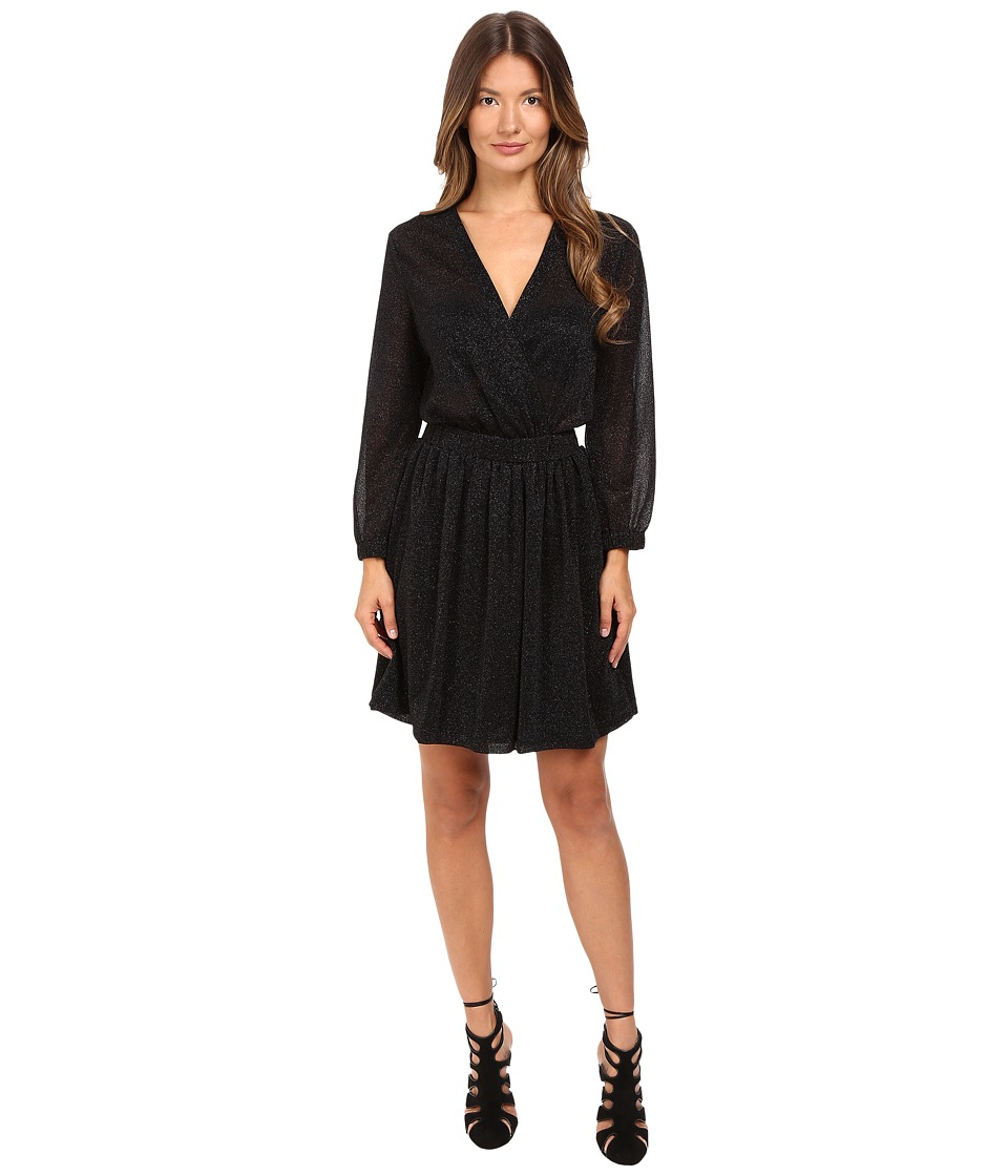 Just Cavalli - Lurex Solid Crossover Dress (Black) Women's Dress