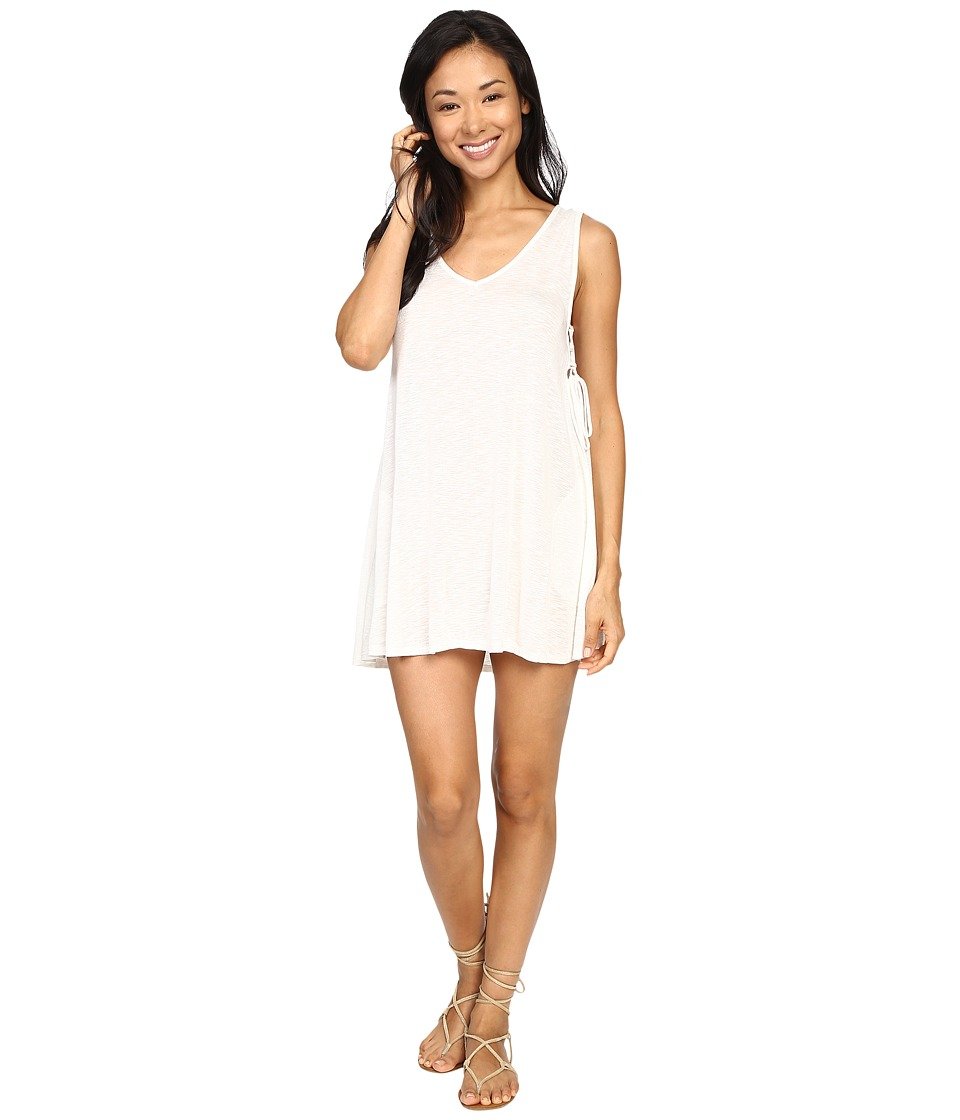 Lucy Love - Tie Side Dress (Crystal White) Women's Dress