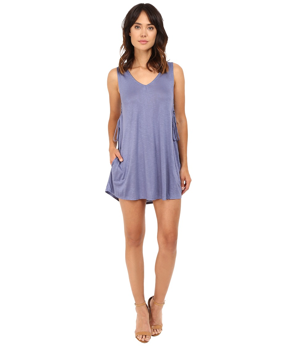 Lucy Love - Tie Side Dress (Mineral Blue) Women's Dress