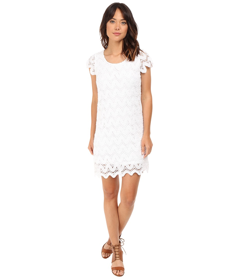 ONLY - Selma Cap Sleeve Lace Dress Woven (Cloud Dancer) Women's Dress