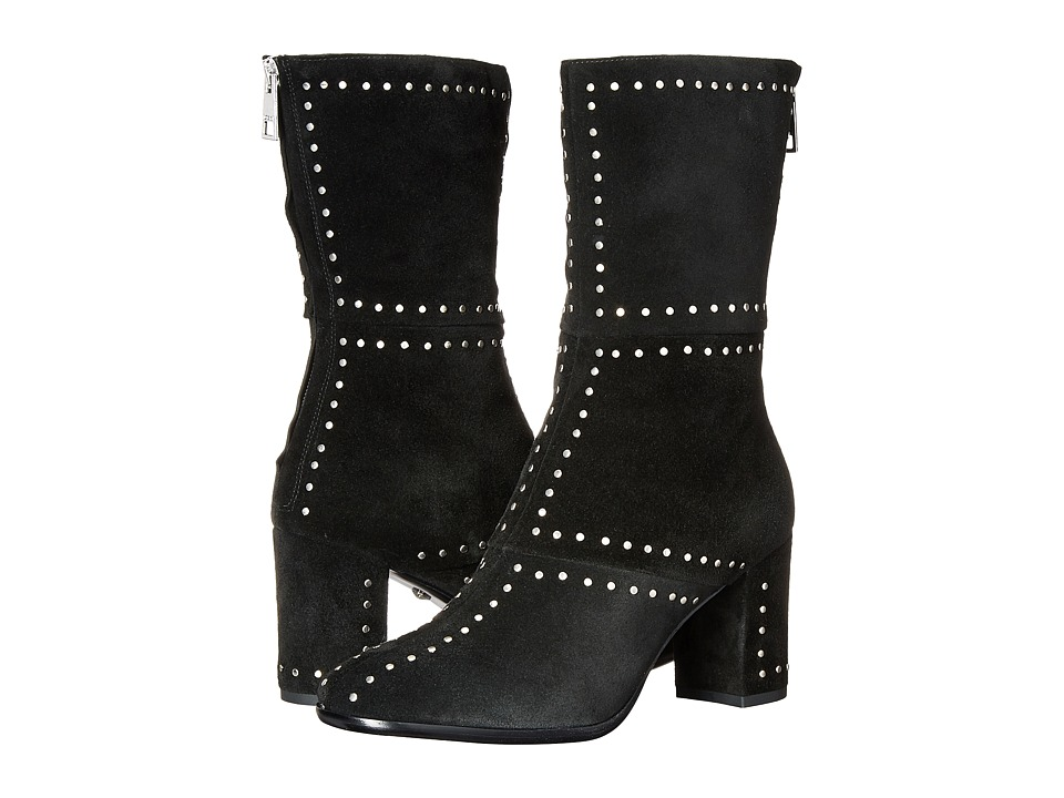 Just Cavalli - Studded Suede/Leather Bootie (Black) Women's Zip Boots