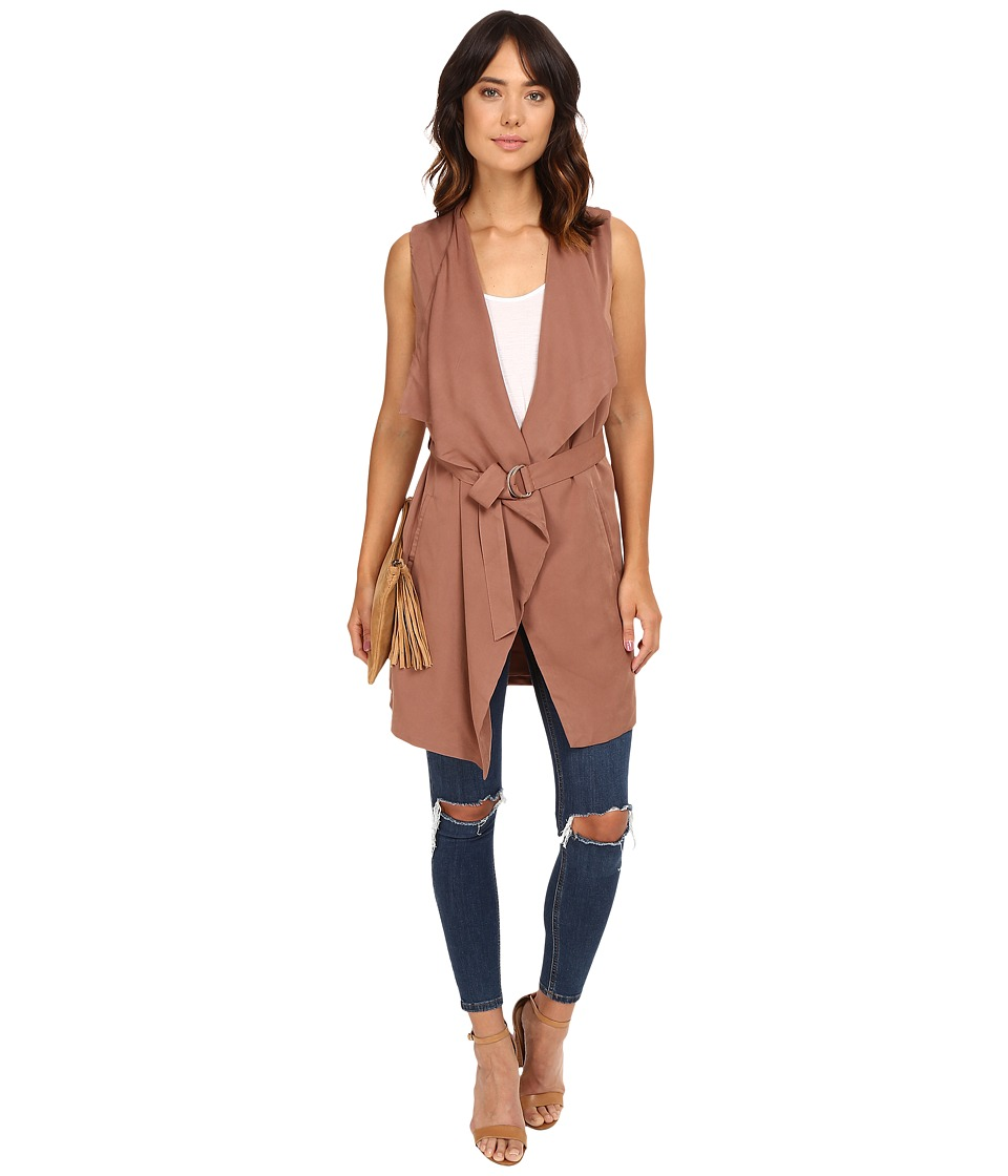 ONLY - Alexis Sleeveless Woven Vest (Cognac) Women's Vest