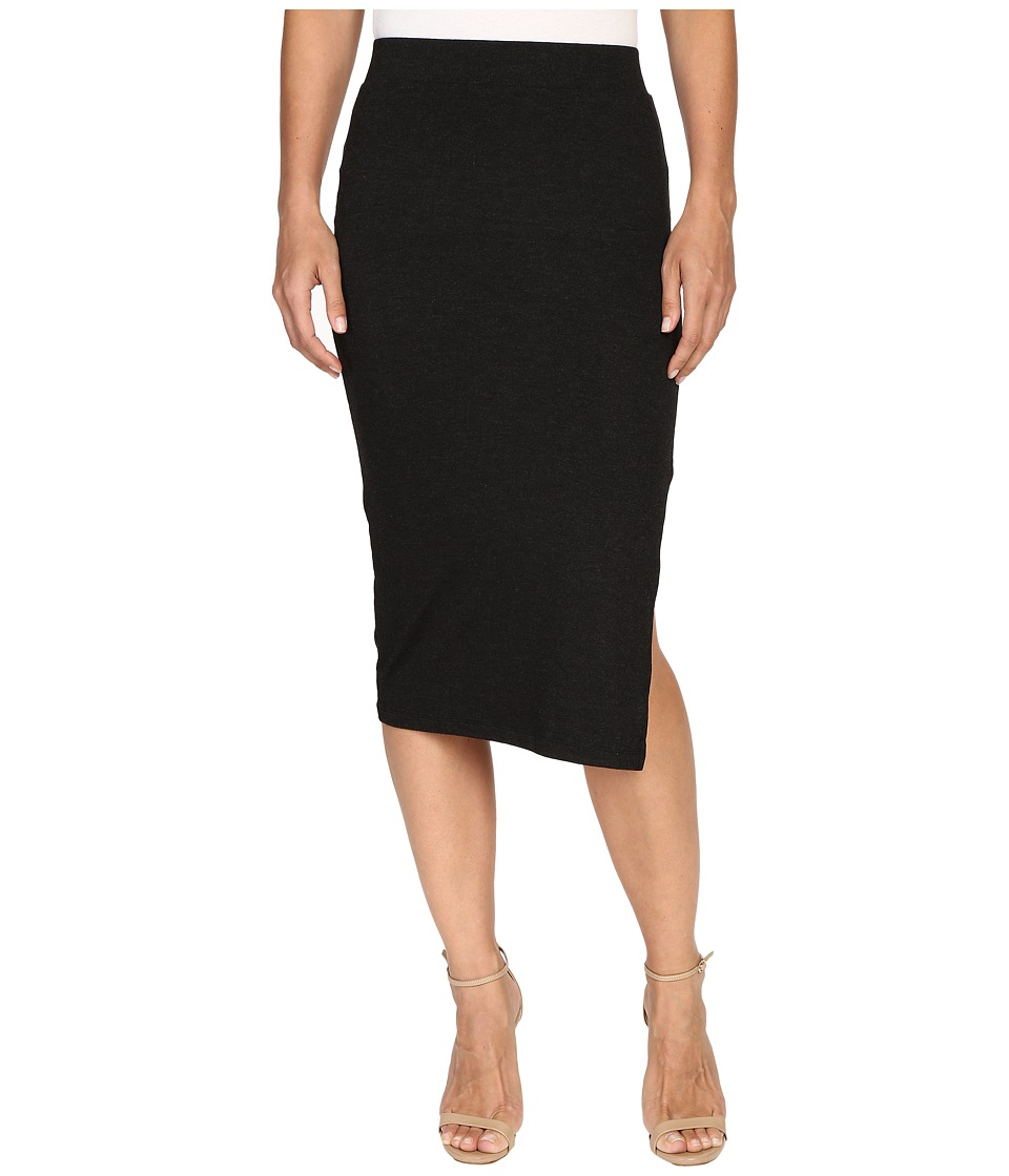 ONLY - Mojo Slim Calf Skirt (Dark Grey Melange) Women's Skirt