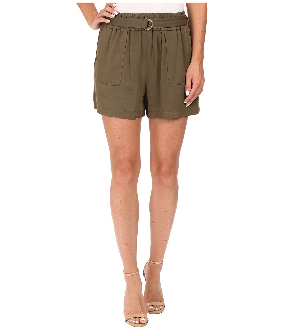 ONLY - Rita Cay Belt Shorts (Tarmac) Women's Shorts