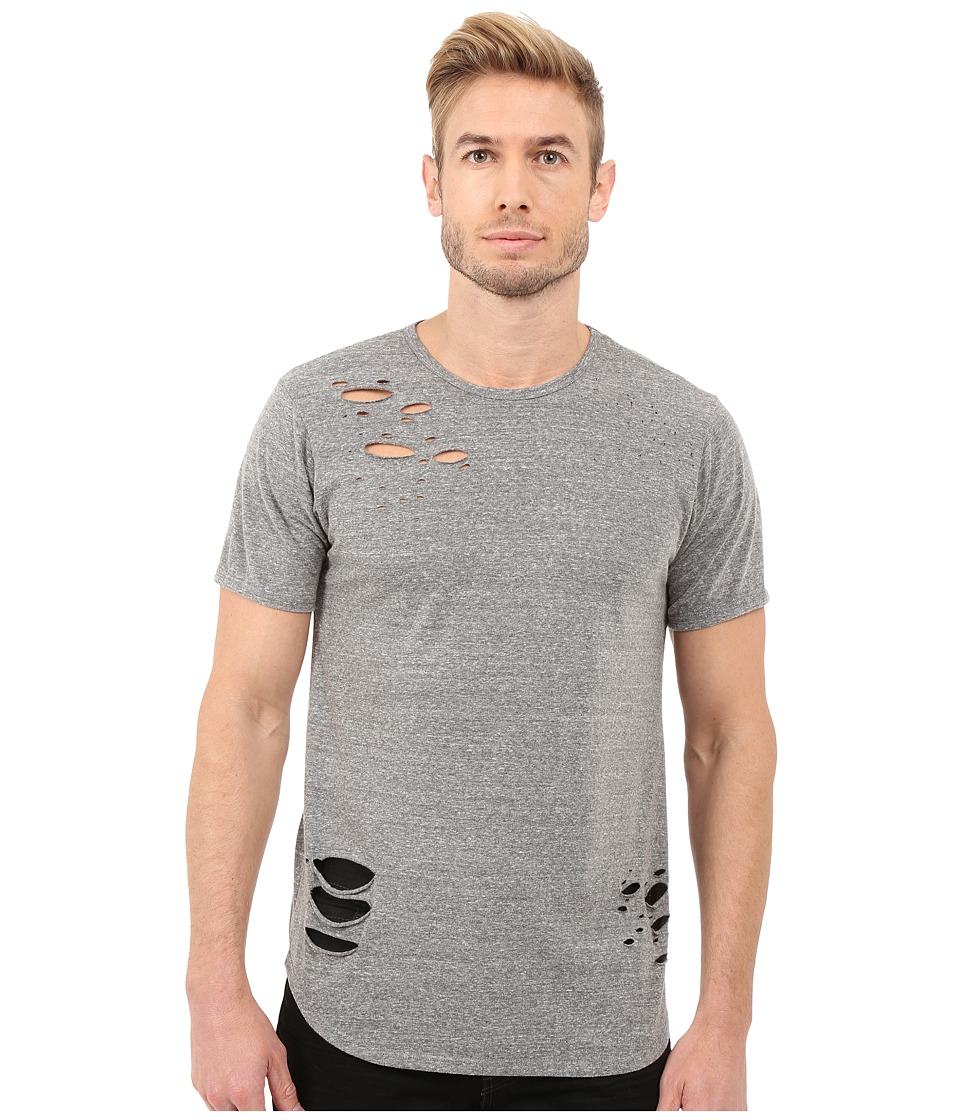Rustic Dime - Distressed Long Tee (Heather Grey) Men's T Shirt