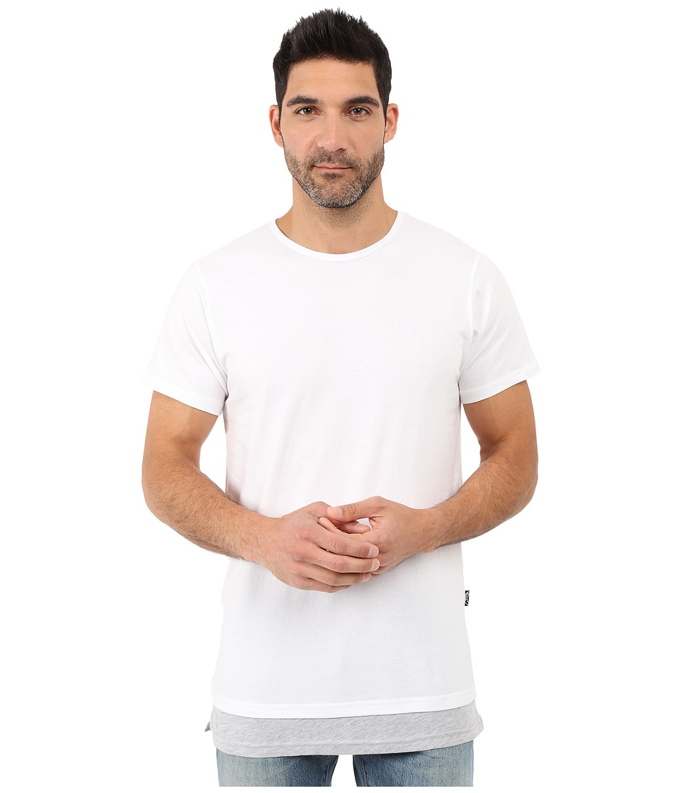 Rustic Dime - Layered Long Tee (White) Men's T Shirt