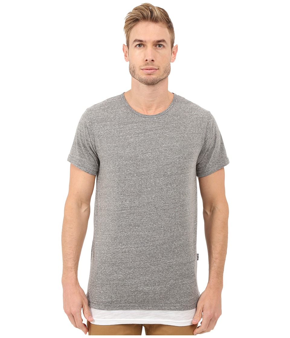 Rustic Dime - Layered Long Tee (Heather Grey) Men