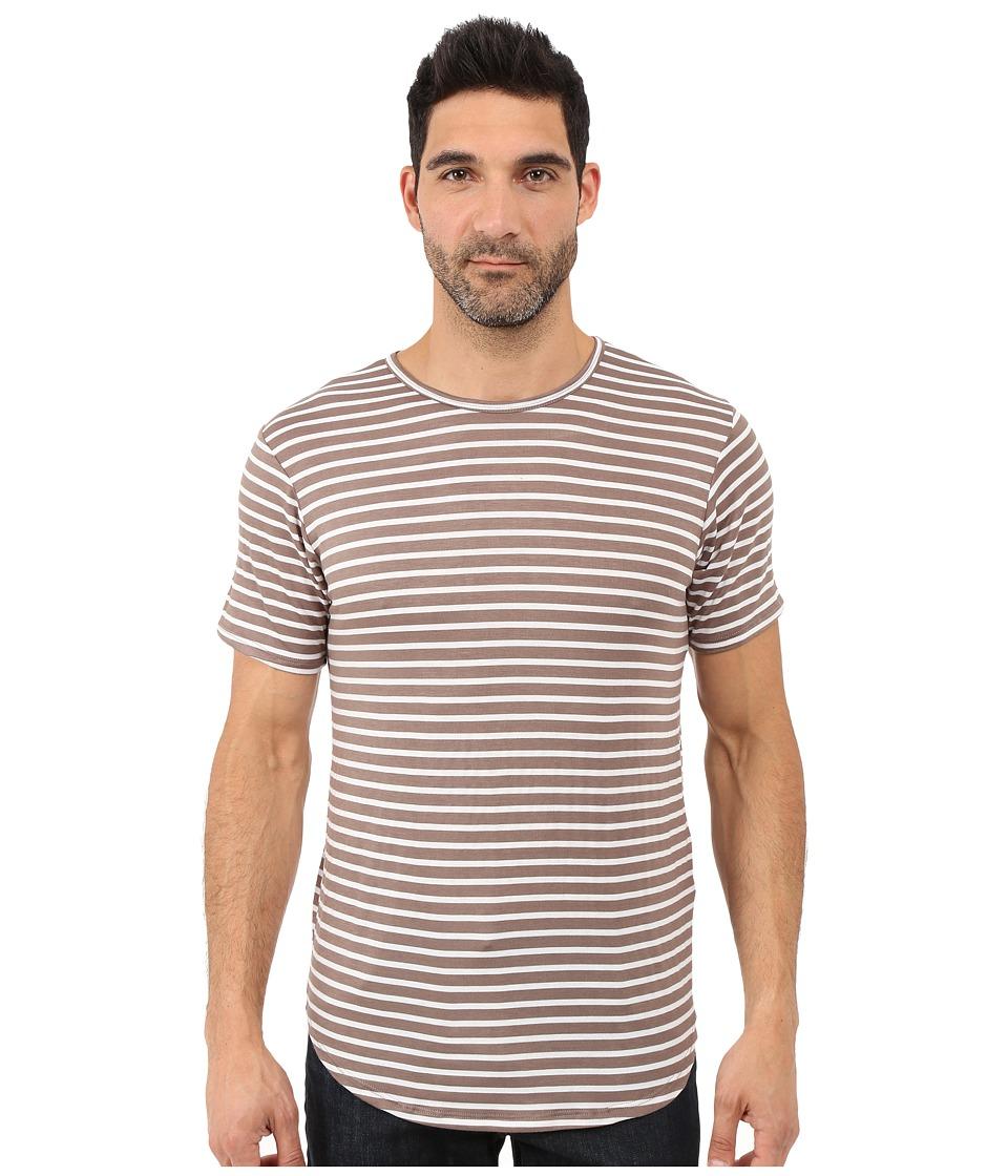 Rustic Dime - Striped Long Tee (Tan) Men's T Shirt