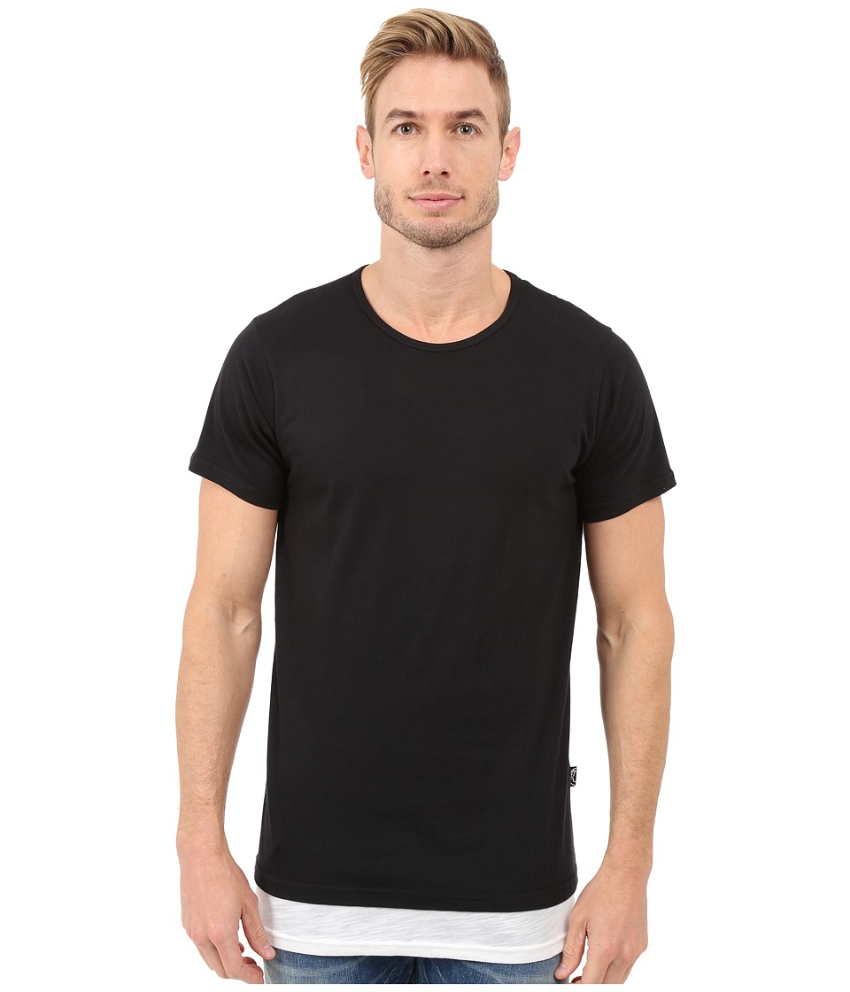 Rustic Dime - Layered Long Tee (Black) Men's T Shirt