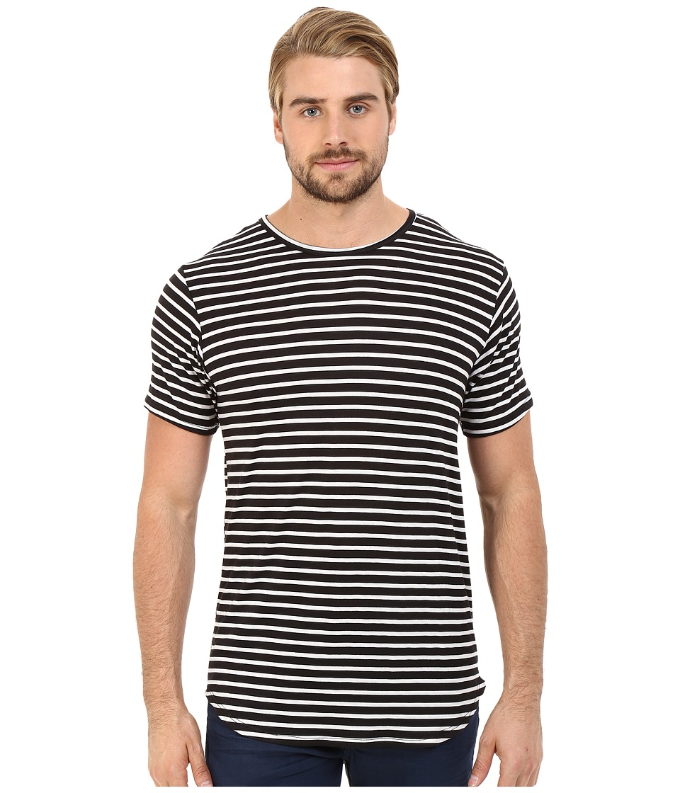 Rustic Dime - Striped Long Tee (Black) Men's T Shirt
