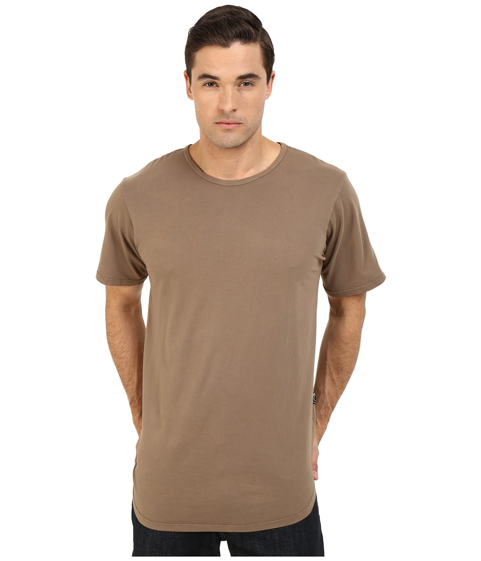 Rustic Dime - Garment Dyed Long Tee (Light Brown) Men's T Shirt