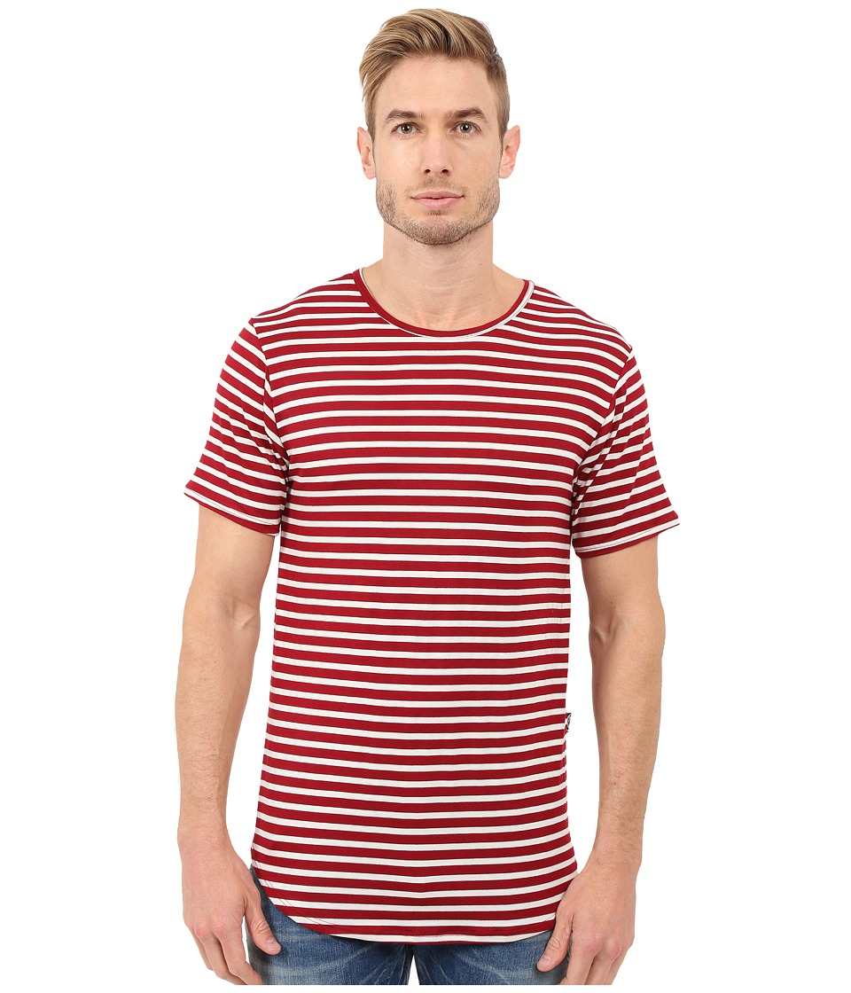 Rustic Dime - Striped Long Tee (Red) Men's T Shirt