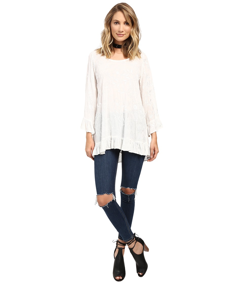 Lucy Love - Mayfair Tunic (White) Women's Blouse