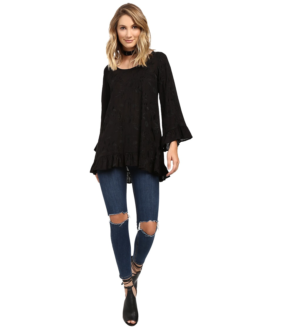 Lucy Love - Mayfair Tunic (Black) Women's Blouse