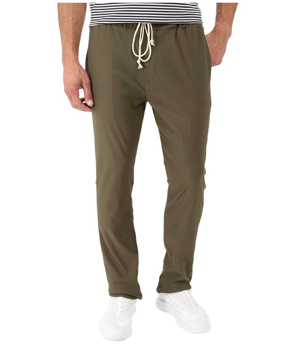 Rustic Dime - Icon Zipper Pants in Olive (Olive) Men's Casual Pants