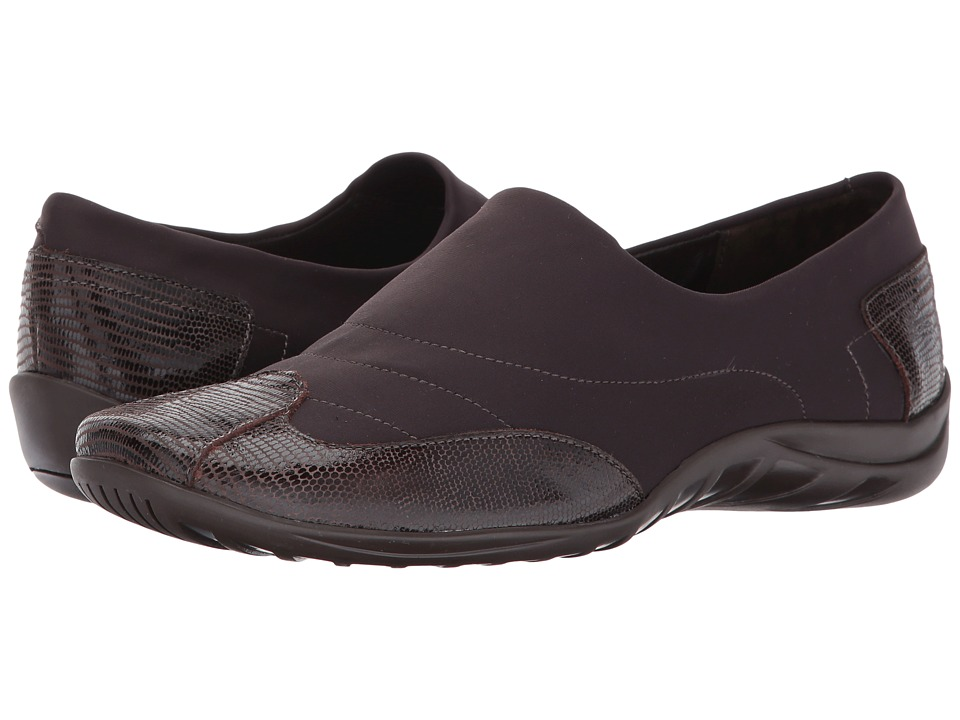 Walking Cradles - Almond (Brown Stretch/Brown Patent Lizard) Women's Shoes