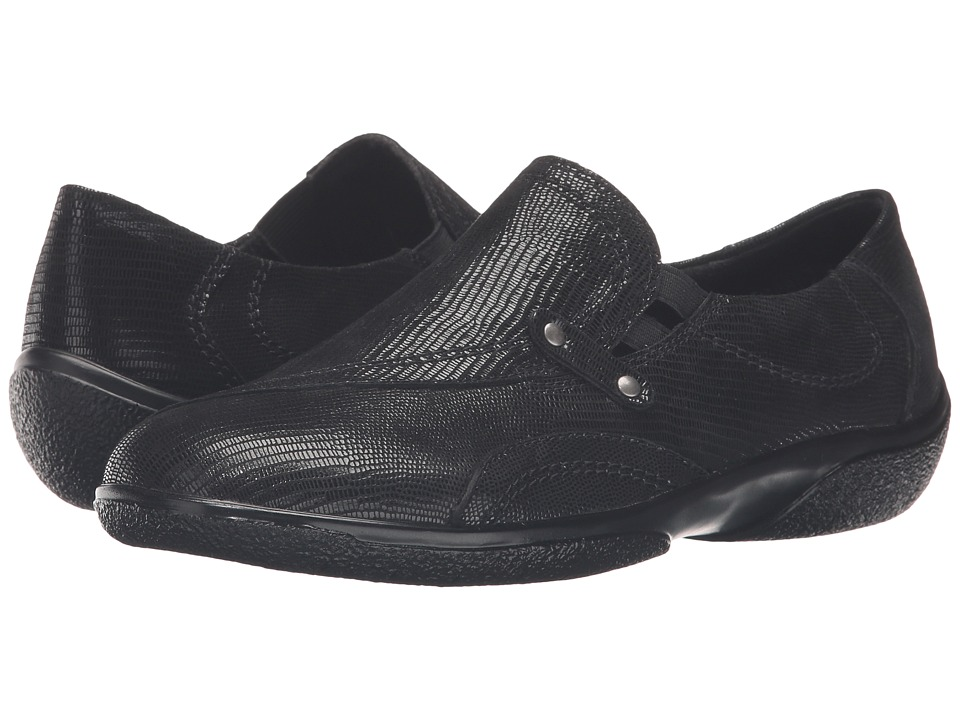 Walking Cradles Amp (Black Patent Lizard) Women