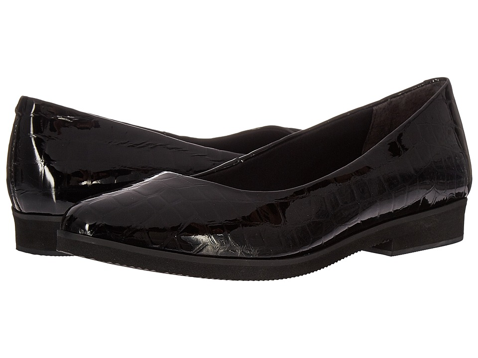 Walking Cradles Bounce (Black Lagart Patent Crocco) Women