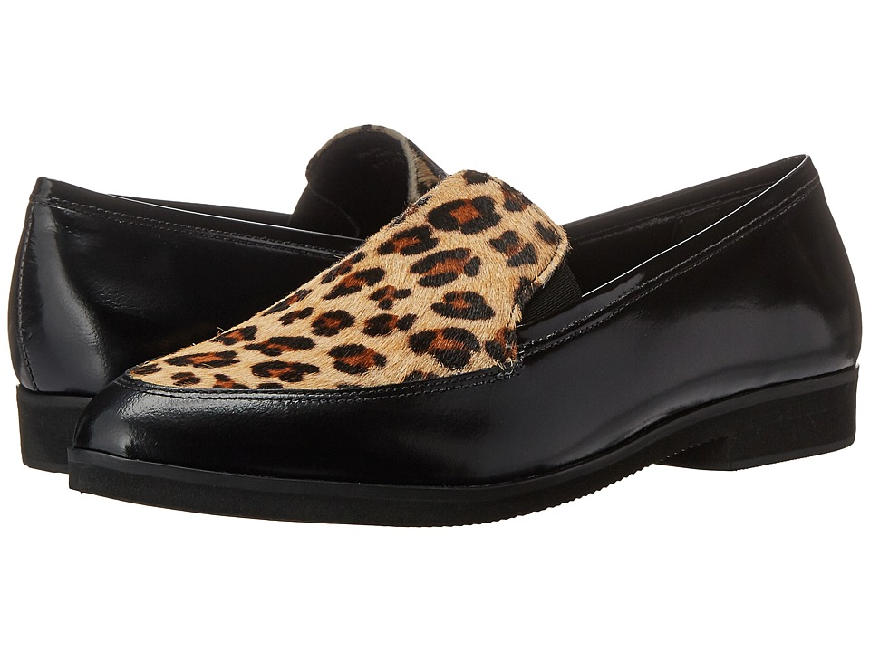 Walking Cradles Buckley (Black Box Calf/Leopard Haircalf) Women