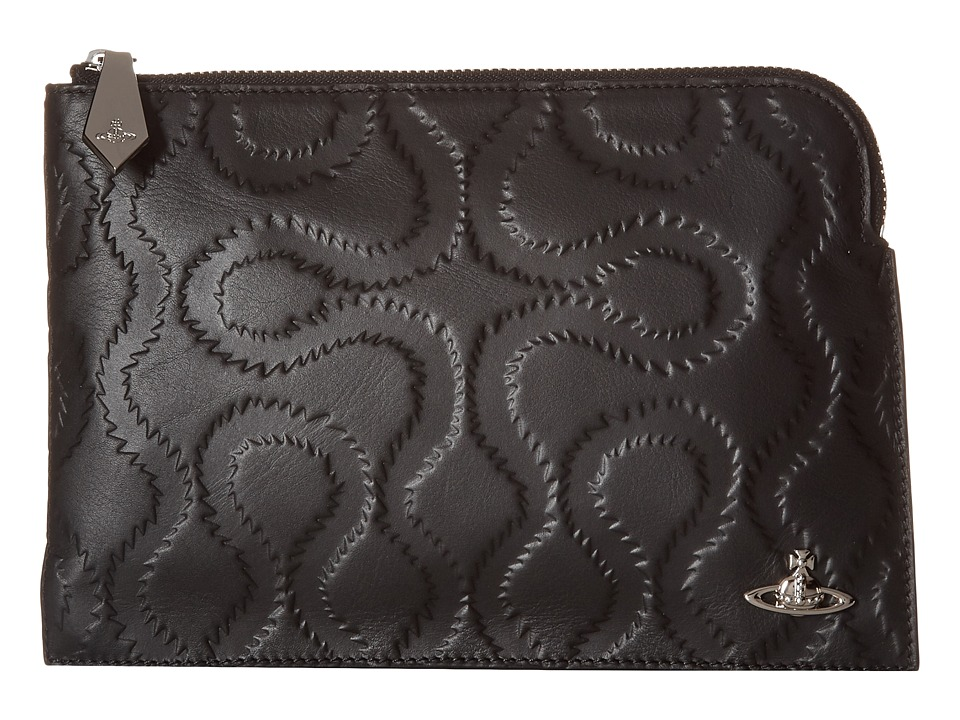 Vivienne Westwood - Squiggle Pouch (Black) Travel Pouch
