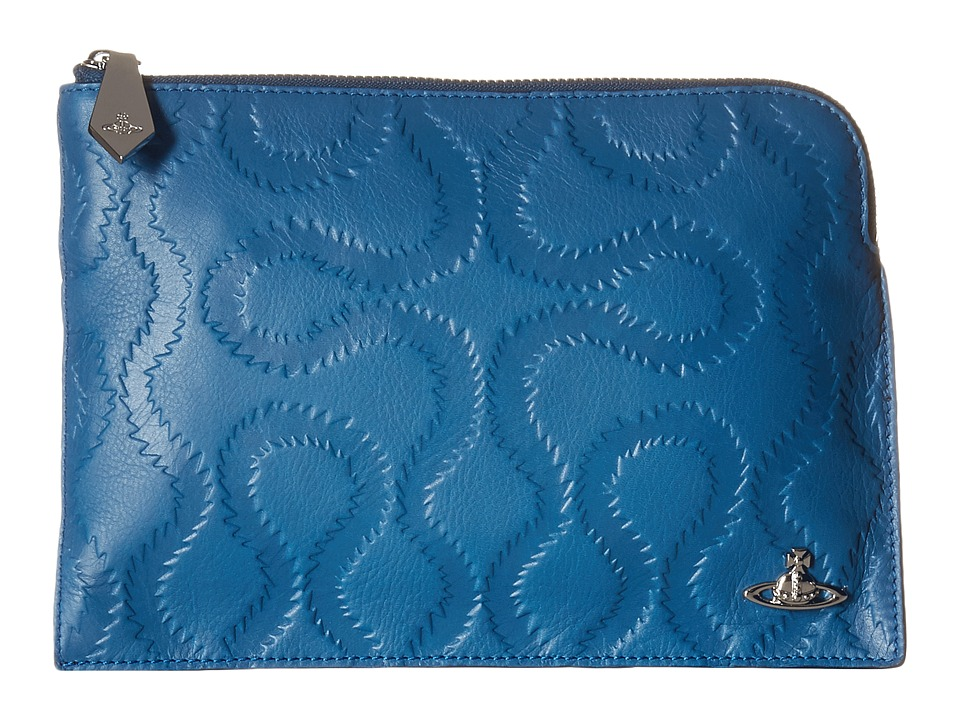 Vivienne Westwood - Squiggle Pouch (Blue) Travel Pouch