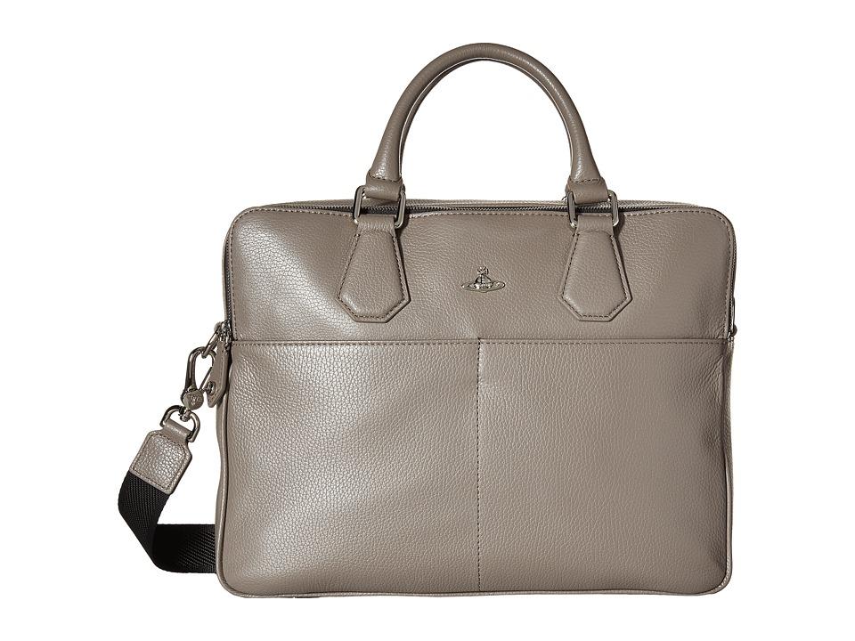 Vivienne Westwood - Milano Briefcase (Grey) Briefcase Bags