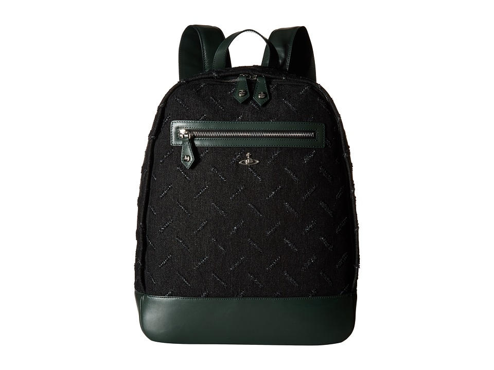 Vivienne Westwood - Man Cut and Slash Backpack (Green) Backpack Bags