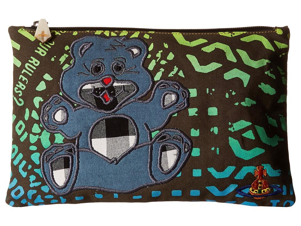 Vivienne Westwood - Africa Manhole Teddy Zip Pouch (Green Manhole) Wallet