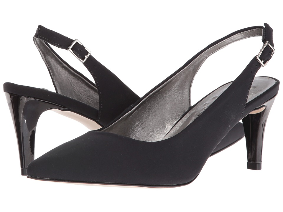 Walking Cradles - Sidney (Black Micro/Black Patent Heel) Women's Shoes