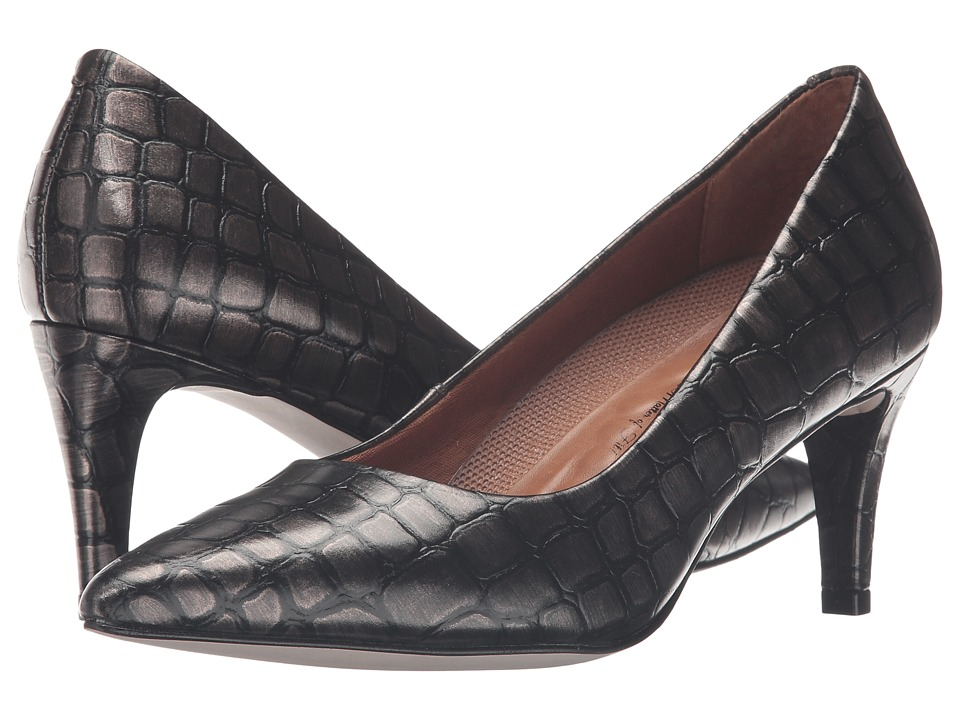 Walking Cradles - Sophia (Pewter Brushed Crocco Print) High Heels