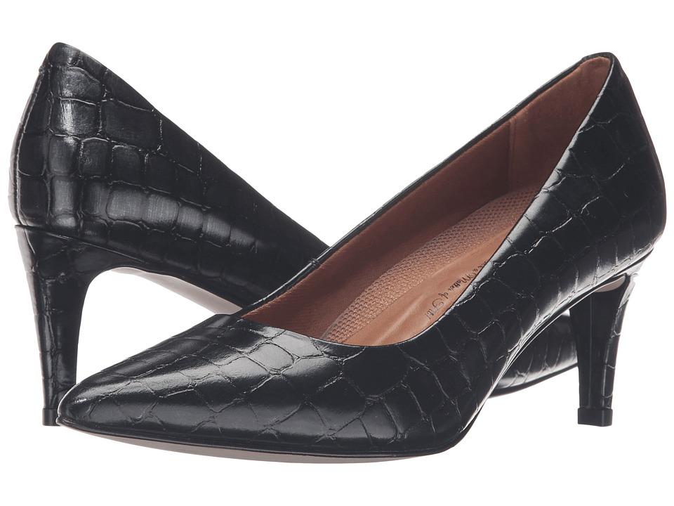Walking Cradles Sophia (Navy Brushed Crocco Print) High Heels