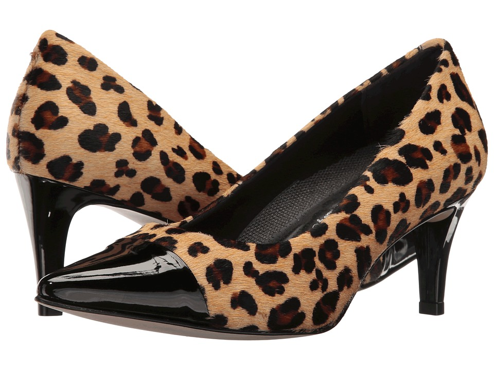 Walking Cradles - Sophie (Leopard Haircalf/Black Patent) Women's Shoes