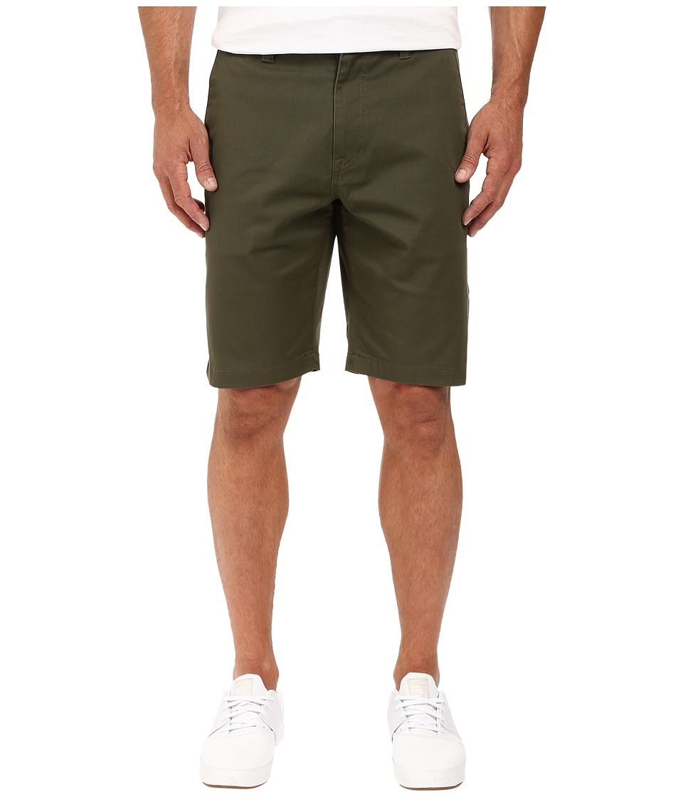 Volcom - Frickin Modern Stretch Chino Shorts (Military) Men's Shorts