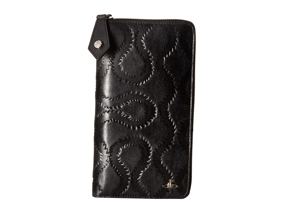 Vivienne Westwood - Belfast Zip Around Wallet (Black) Wallet Handbags