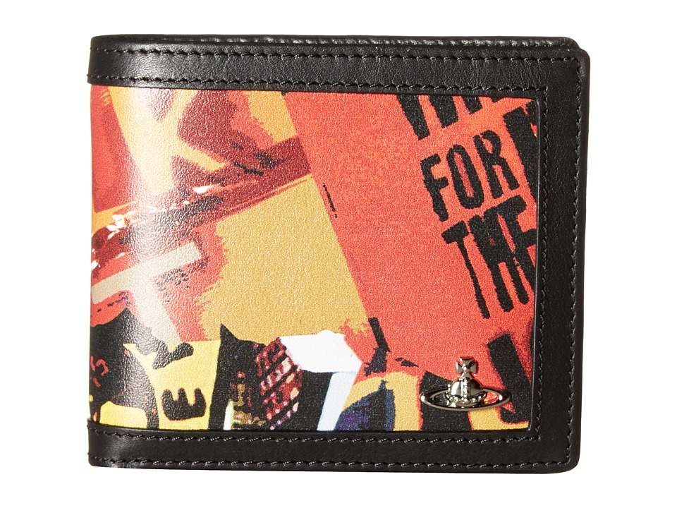 Vivienne Westwood - Protest Print Wallet (Black) Wallet Handbags