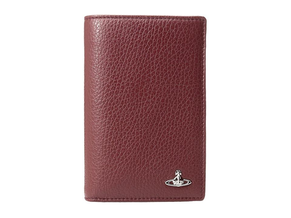 Vivienne Westwood - Milano Passport Case (Bordeaux) Credit card Wallet